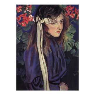 Wyspianski, Portrait of Eliza Parenska, 1905 Poster
