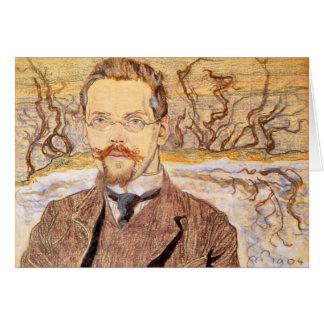 Wyspianski, Portrait of Franciszek Krzysztalowicz Note Card