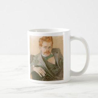 Wyspianski, Portrait of Jozef Mehoffer, 1898 Basic White Mug