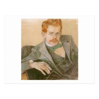 Wyspianski, Portrait of Jozef Mehoffer, 1898 Postcard
