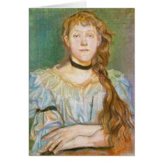 Wyspianski, Portrait of Maria Waskowska, 1894 Note Card