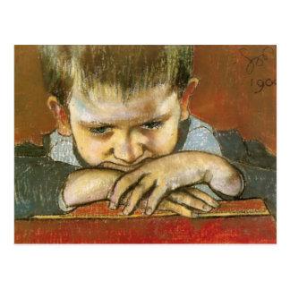 Wyspianski, Study of a Child - Mietek, 1904 Postcard