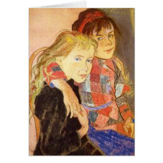 Wyspianski, Two Girls, 1894 Stationery Note Card