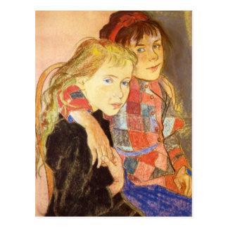 Wyspianski, Two Girls, 1894 Postcard