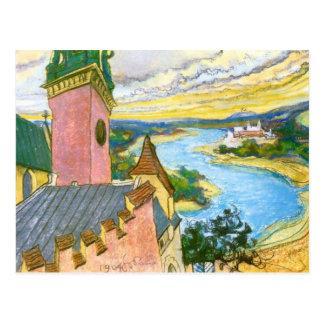 Wyspianski, Vistula River, 1904 Postcard