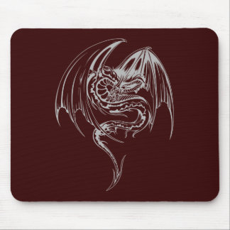 Wyvern Dragon Are Fantasy Mythical Creatures Mouse Mat