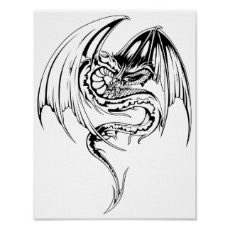 Wyvern Dragon Are Fantasy Mythical Creatures Poster
