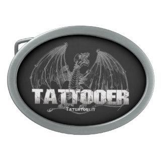 Wyvern Tattoo Oval Belt Buckle