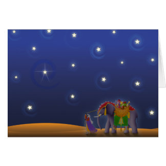 X001 Starry Holiday Night Card