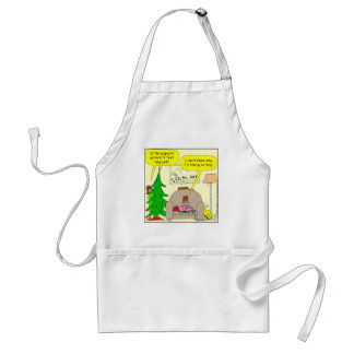x01 Christmas tree and popcorn garland Standard Apron