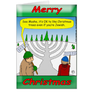 x04 It's fun to be Jewish at Christmas time. Greeting Card