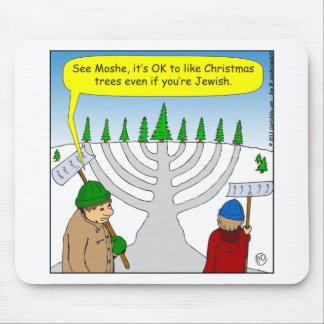 x04 Jews like Christmas too - cartoon Mouse Mat