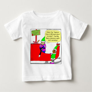 x07 Santa Hit Blitzen's butt  - Santa cartoon Baby T-Shirt