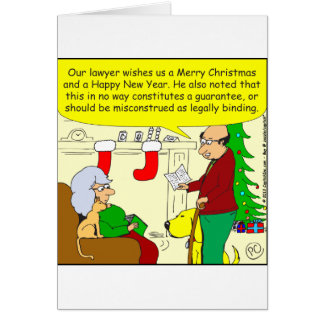 x08 Christmas card from our lawyer - cartoon