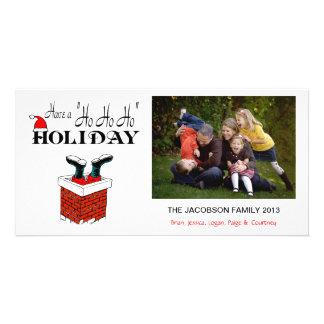 X1 Santa Feet Chimney Xmas Photo Cards