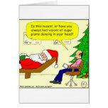 x30 Santa talks to his therapist - Cartoon Greeting Card