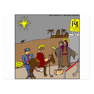 x31 mary joseph security check cartoon postcard