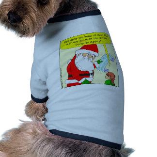 x43 santa works for NSA cartoon Doggie Shirt