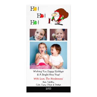 X4 Santa Looking Chimney Xmas Cards Personalized Photo Card