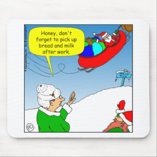 x51 santa dont forget to pick up cartoon mouse pad