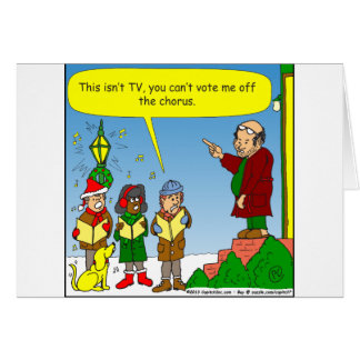 x54 christmas carolers cartoon greeting card