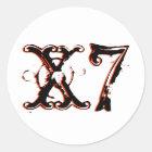 X7 Circle Classic Round Sticker