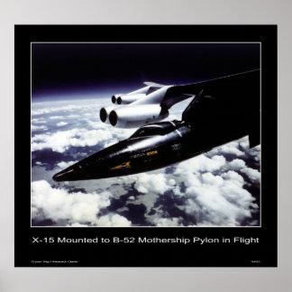 X-15 mounted to B-52 Mothership Pylon in Flight Print
