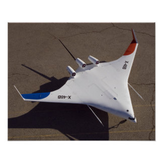 X-48B Blended Wing Body unmanned aerial vehicle 4 Poster