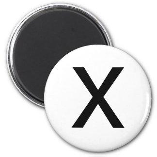X 6 CM ROUND MAGNET