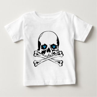 X Bones With Skull T Shirt