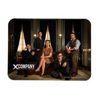 X Company Cast Photo Rectangular Photo Magnet