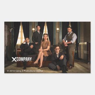 X Company Cast Photo Rectangular Sticker