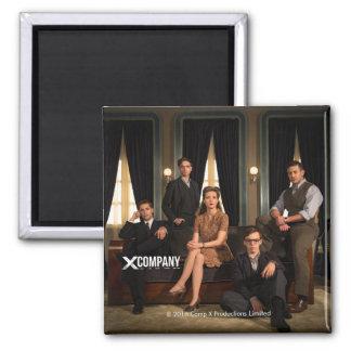X Company Cast Photo Square Magnet