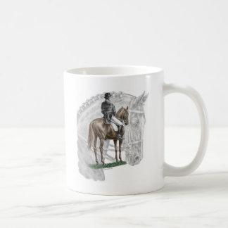 X-Halt Salute Dressage Horse Basic White Mug