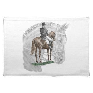 X-Halt Salute Dressage Horse Placemats