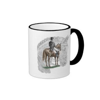 X-Halt Salute Dressage Horse Ringer Mug