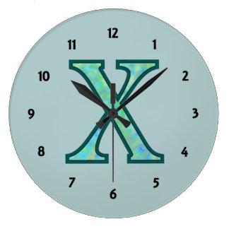 X Illuminated Monogram Wall Clocks