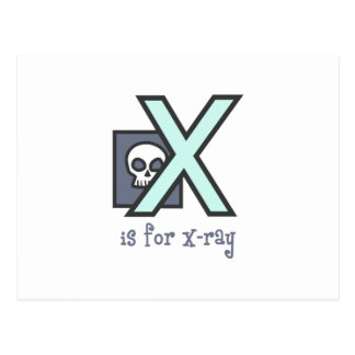 X Is For X-Ray Postcard