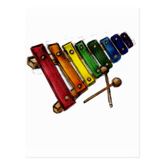 X is for Xylophone Post Cards