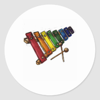 X is for Xylophone Round Stickers