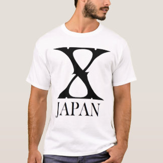 X Japan Black version shirt white t