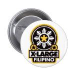 X-Large Filipino - Black 6 Cm Round Badge
