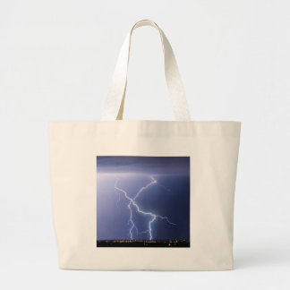 X Lightning Bolts In The Sky Bolts Canvas Bag
