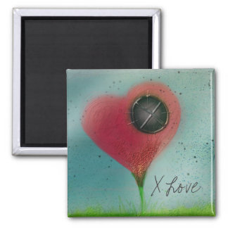 X Love Square Magnet