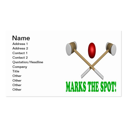 X Marks The Spot Business Card