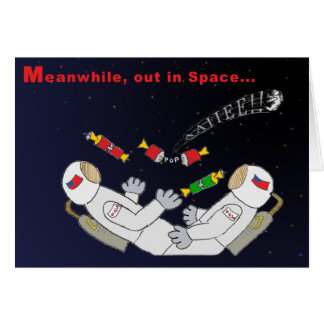 X-mas In Space Card