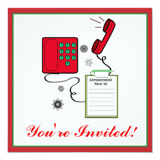X-mas Party Invitation: Medical or Dental Office