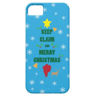 X mas Tree Keep Claim and Merry Xmas iPhone 5 Case