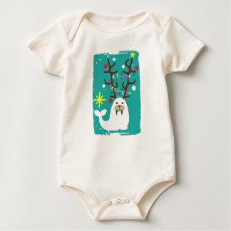 X-mas Walrus Natural Baby Bodysuit