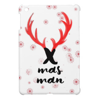 """X-mass man"" sign with deer's horns iPad Mini Cover"